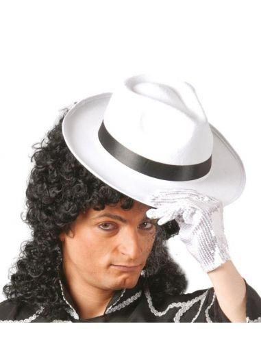 Sombrero Gangster Blanco Cinta Negra Tienda de disfraces online - venta disfraces