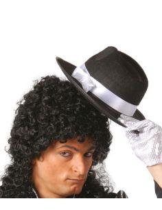 Sombrero Gangster Negro Cinta Blanca Tienda de disfraces online - venta disfraces