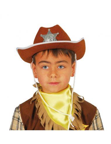 Sombrero Sheriff Fieltro Marrón infantil Tienda de disfraces online - venta disfraces