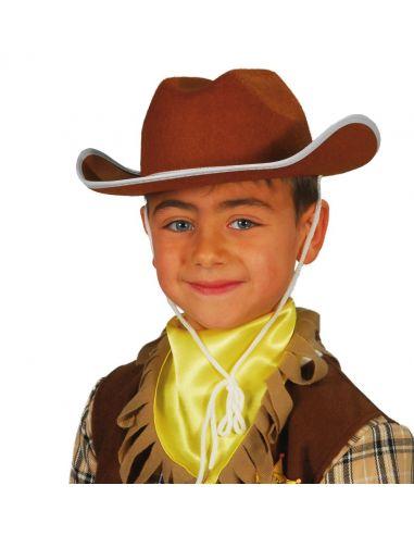Sombrero Vaquero Fieltro Marrón infantil Tienda de disfraces online - venta disfraces