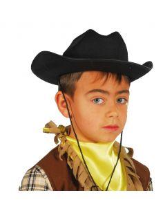Sombrero Vaquero Fieltro Negro infantil Tienda de disfraces online - venta disfraces