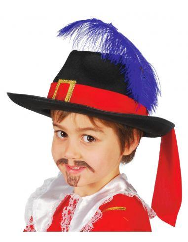 Sombrero Mosquetero infantil Fieltro Tienda de disfraces online - venta disfraces