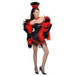 Disfraz de las Vegas Showgirl negro/rojo Tienda de disfraces online - venta disfraces