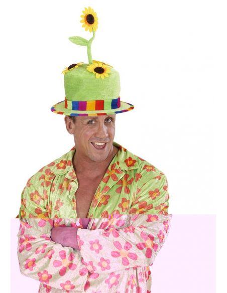 Sombrero Payaso Terciopelo con Flores Tienda de disfraces online - venta disfraces