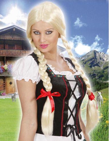 Peluca Trenzas Rubia Gretel Tienda de disfraces online - venta disfraces