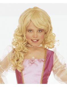 Peluca Ondulada Rubia para infantil Tienda de disfraces online - venta disfraces