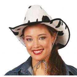 Sombrero Vaquero de Terciopelo Vaca Tienda de disfraces online - venta disfraces