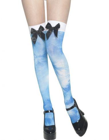 Medias de aguas azules con lazo Tienda de disfraces online - venta disfraces