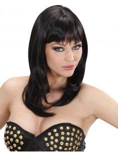 Peluca Melena con Flequillo Morena Tienda de disfraces online - venta disfraces