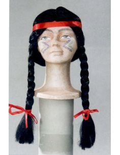 Peluca Indio con Trenzas y Cinta Tienda de disfraces online - venta disfraces