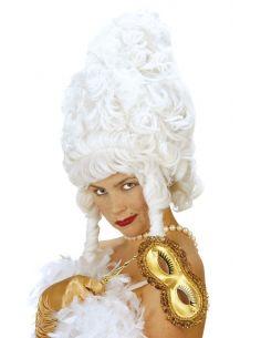 Peluca Época con Tirabuzones Blanca Tienda de disfraces online - venta disfraces