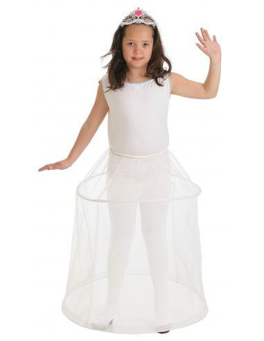 Enagua Cancán en Blanco infantil Tienda de disfraces online - venta disfraces