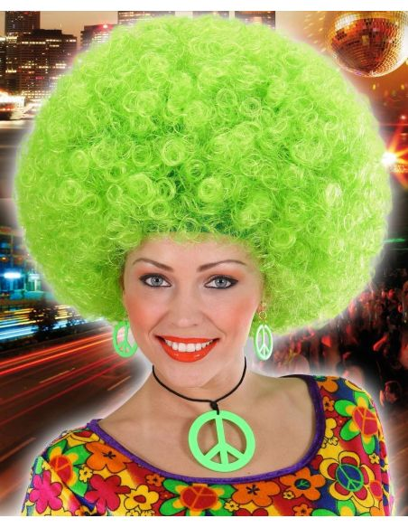 Peluca Afro Verde Tienda de disfraces online - venta disfraces