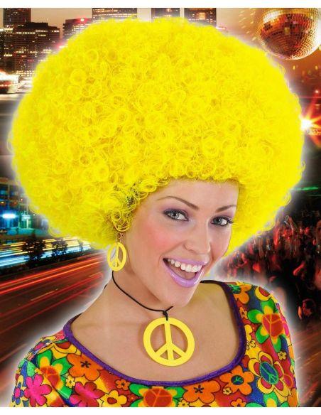 Peluca Afro Amarilla Tienda de disfraces online - venta disfraces