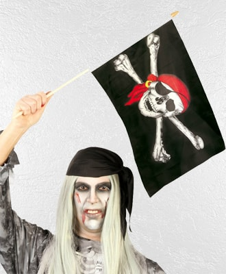 Banderas para complementar tu disfraz de carnaval