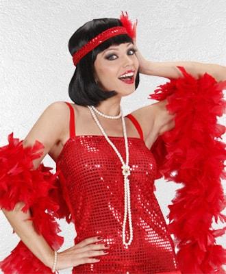Boas y plumas para complementar tu disfraz de carnaval