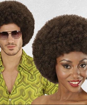 Peluca Afro para complementar tu disfraz de carnaval
