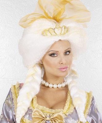 Peluca de epoca para complementar tu disfraz de carnaval