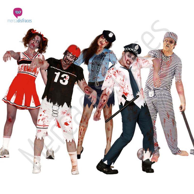 Disfraces para grupos y parejas de Zombies y Terror