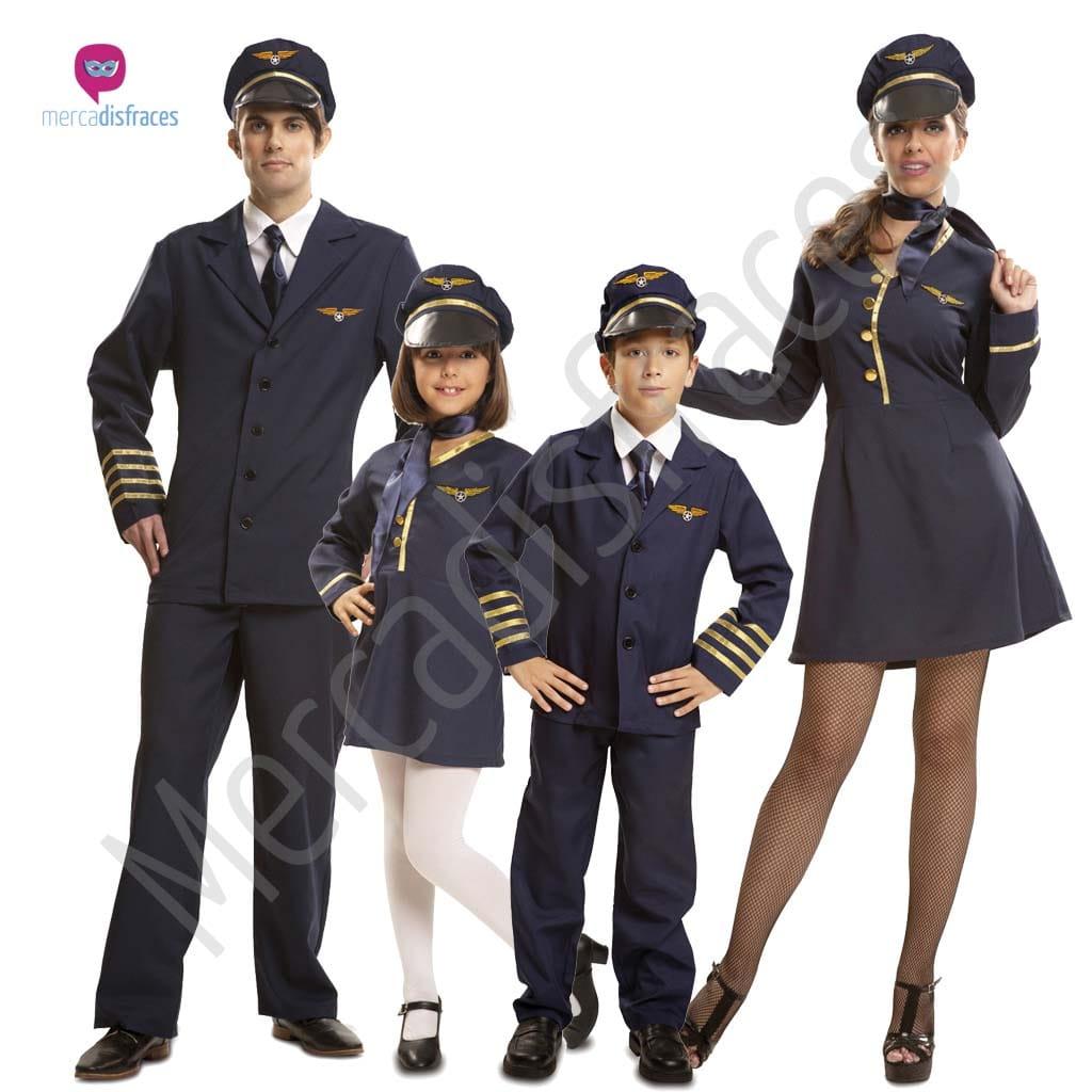 Disfraces para grupos y parejas de Azafatas y Pilotos