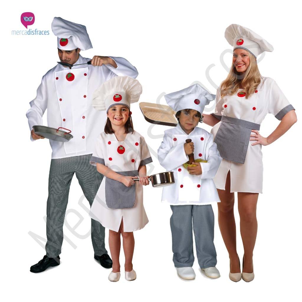 Disfraces para grupos y parejas de Camareras y Cocineros