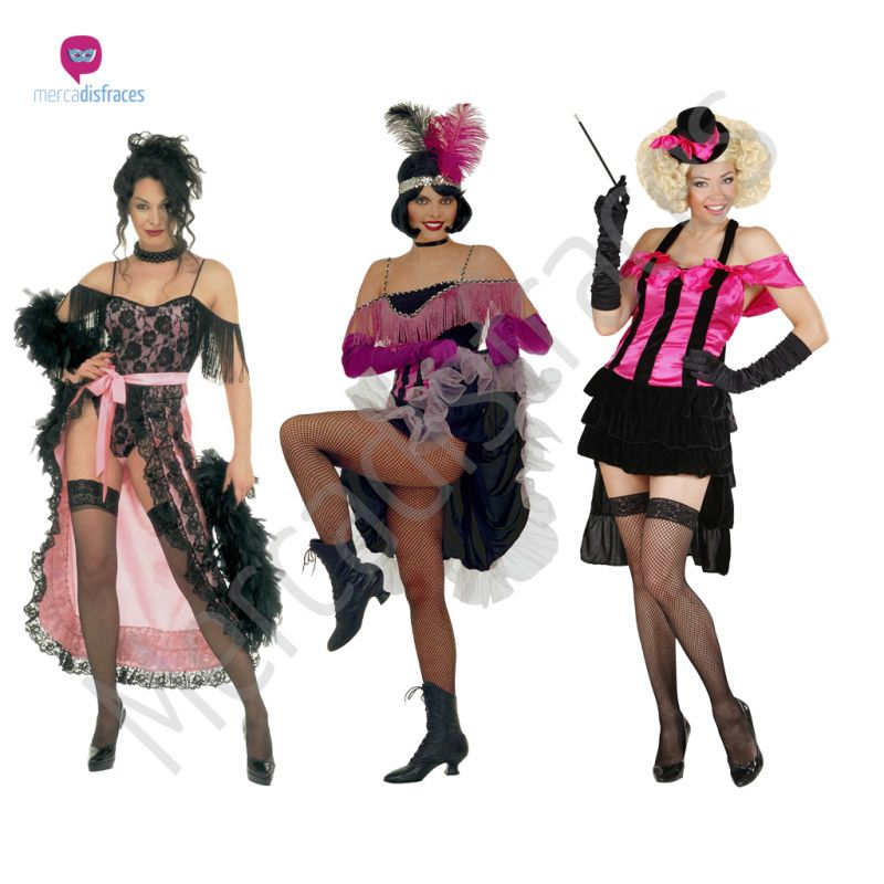 Disfraces para grupos y parejas de Can Can y Cabaret