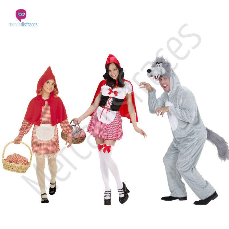 Disfraces para grupos y parejas de Caperucita y Lobo feroz