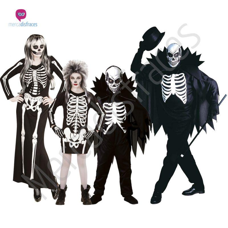 Disfraces para grupos y parejas de Esqueletos y Calaveras