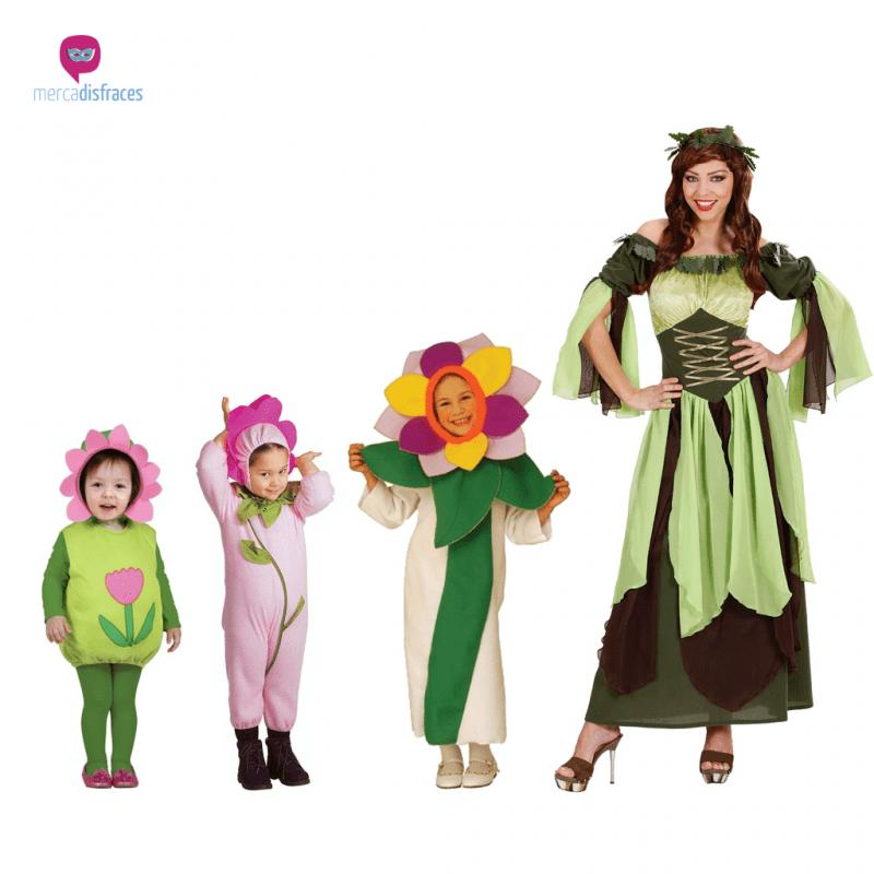 Disfraces para grupos y parejas de Frutas y Flores
