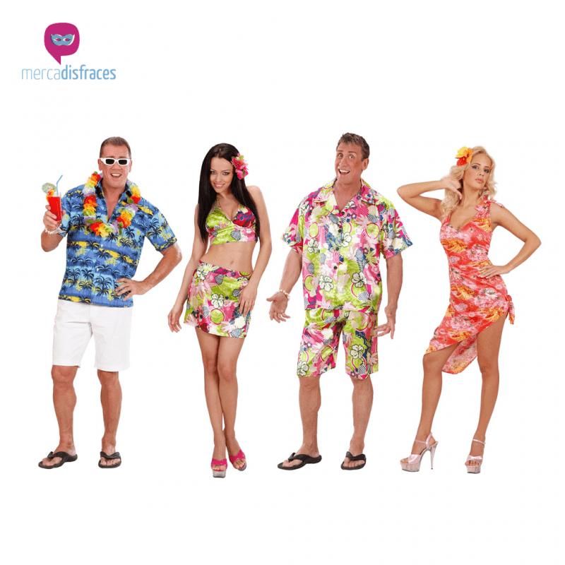 Disfraces para grupos y parejas de Hawaianos