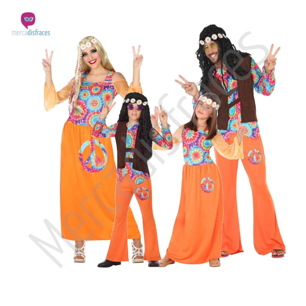 Disfraces para grupos y parejas de Hippies