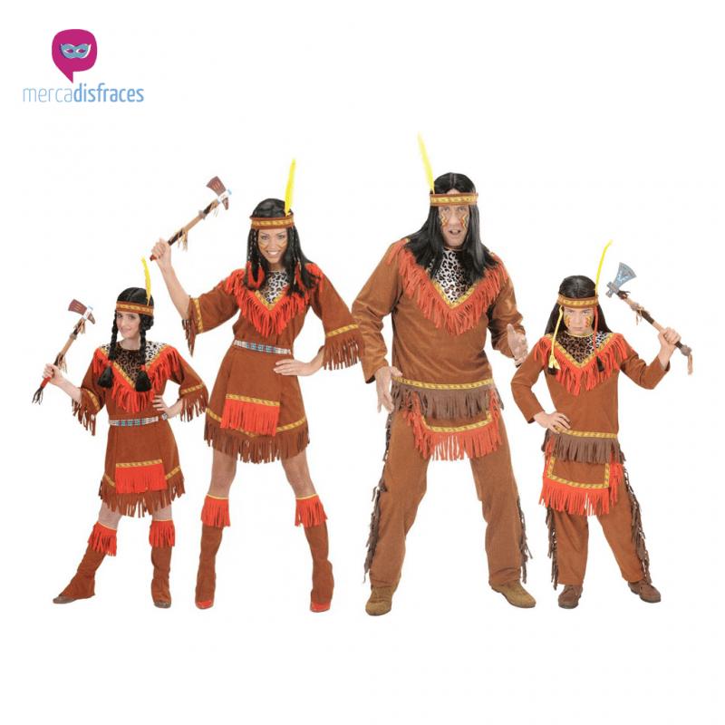Disfraces para grupos y parejas de Indios