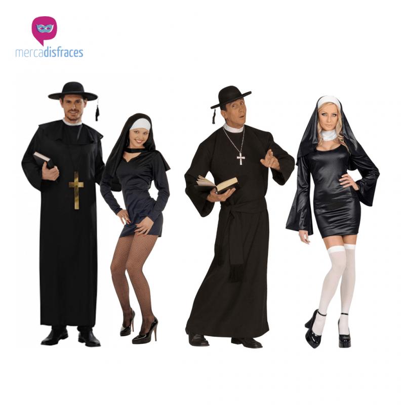 Disfraces para grupos y parejas de Monjas y Curas