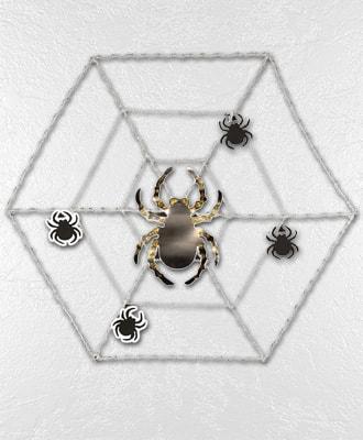 Arañas y Tela de Araña para decoración para fiestas de Halloween