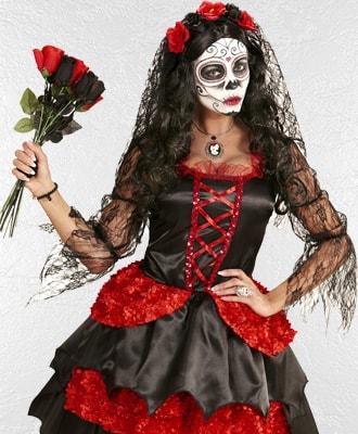 Disfraces de Catrinas y dia de los Muertos para Halloween