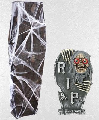 Lápidas y Ataudes para decorar tus fiestas de Halloween