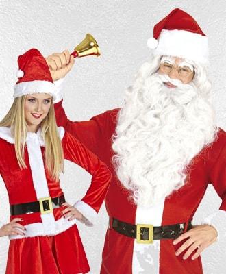 Disfraces de Papa y Mama noel Navidad