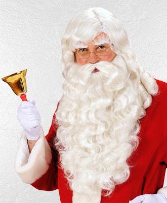 Pelucas de papa noel y reyes magos para disfraces de Navidad