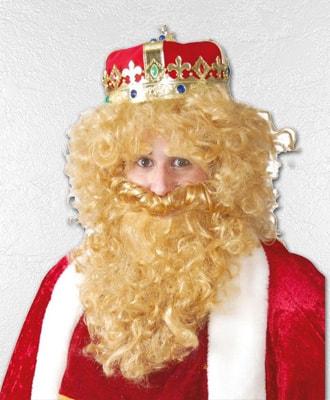 Barbas y bigotes para disfraces de Navidad