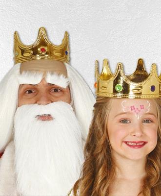 Complementos al disfraz de Reyes magos y pajes reales para Navidad